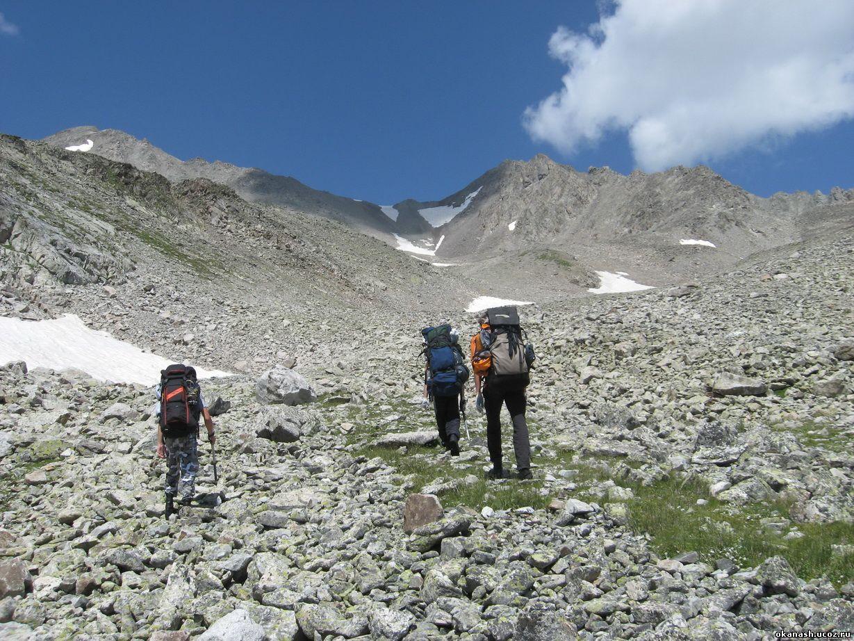 Движение группы на перевал